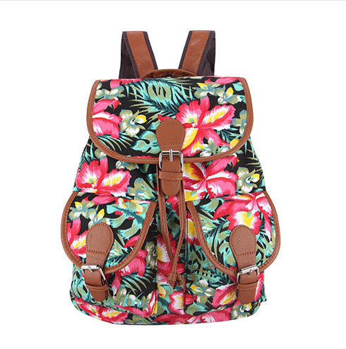 Z-Frangipani Canvas Backpack-SOLD-SOLD-Daring Diva Australia