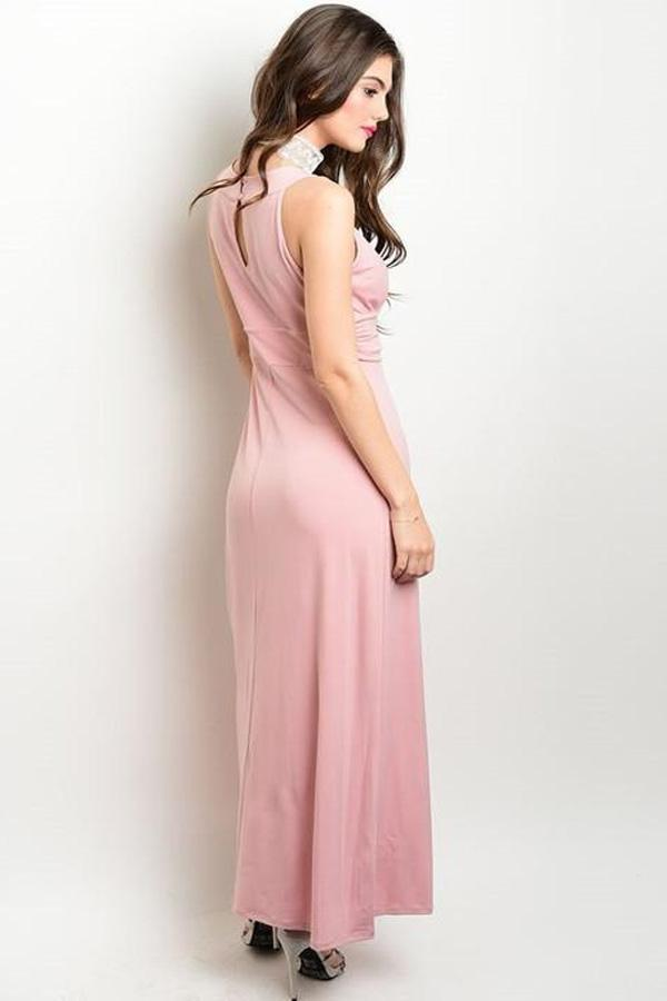 DUSTY PINK MISSY DRESS-SOLD-SOLD-Daring Diva Australia