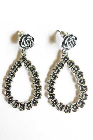 Rose Vintage Earrings-Jewellery-Jewellery-Silver-Daring Diva Australia