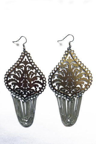 Loop Tassel Design Earrings-Jewellery-Jewellery-Gold-Daring Diva Australia