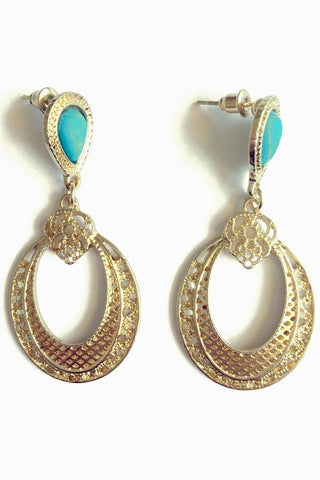 Hollow Out Drop Earrings-Jewellery-Jewellery-Blue-Daring Diva Australia
