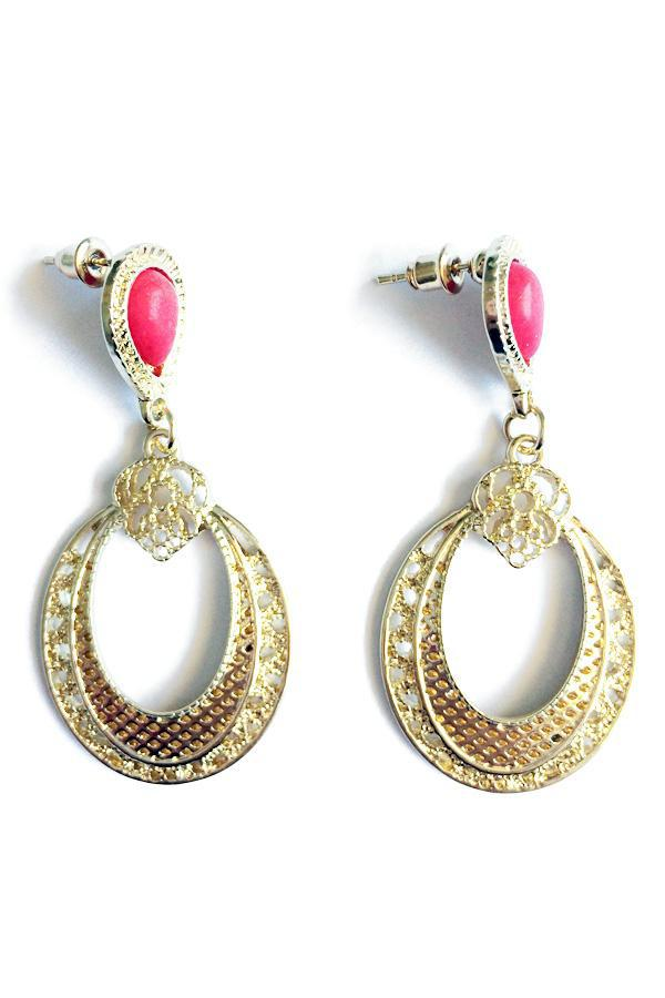 Hollow Out Drop Earrings-Jewellery-Jewellery-Red-Daring Diva Australia