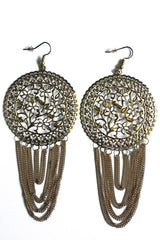 Tassel Design Drop Earrings-SOLD-SOLD-Gold-Daring Diva Australia