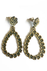 Rose Vintage Earrings gold-Jewellery-Jewellery-Gold-Daring Diva Australia