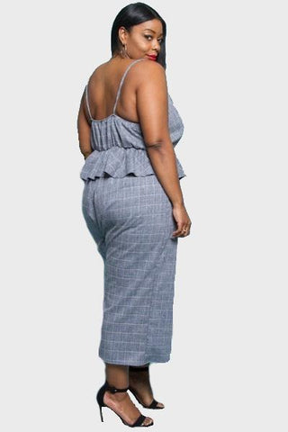 Kensley Plaid Jumpsuit-Jumpsuits-5C-Daring Diva Australia