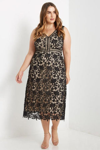 Deluxe Lace Midi Dress-Dresses-MT-Daring Diva Australia