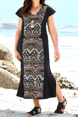 Kaysee Tribal Print Shift Dress-SOLD-SOLD-Daring Diva Australia
