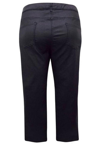 Straight Leg Coated Trousers Jeans-Bottoms-FCW-Daring Diva Australia
