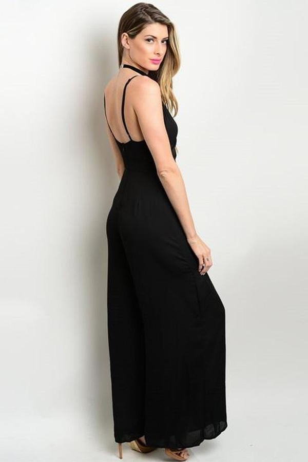 DIAMOND BLACK JUMPSUIT-SOLD-SOLD-Daring Diva Australia