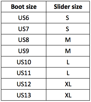 Cosmo Slider size guide