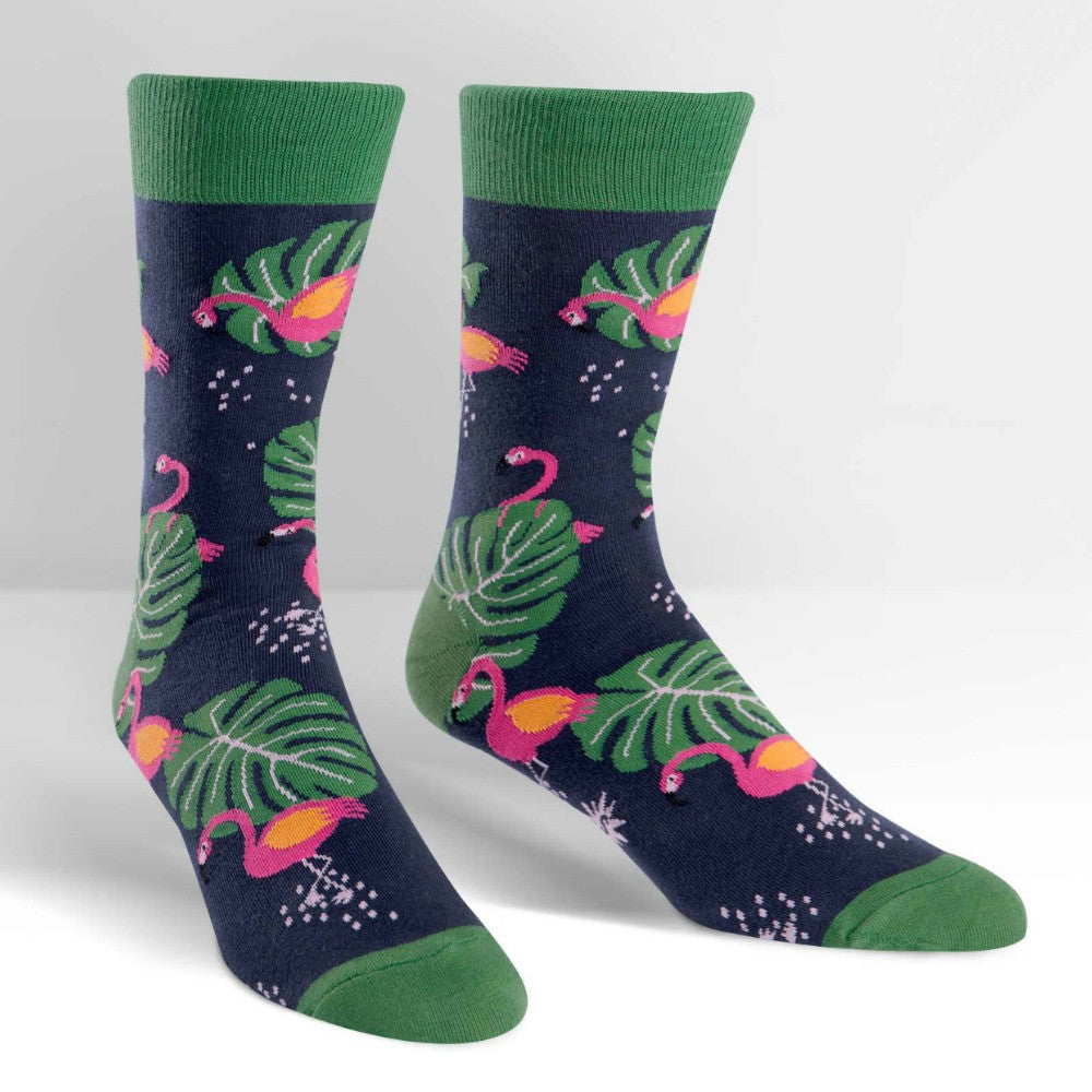 SOCK IT TO ME Crew Mens Flamingo