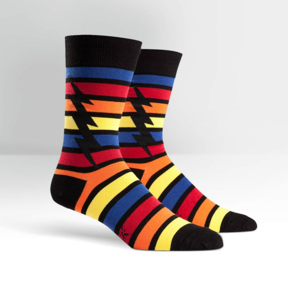 SOCK IT TO ME Crew Mens Stripe Bolt