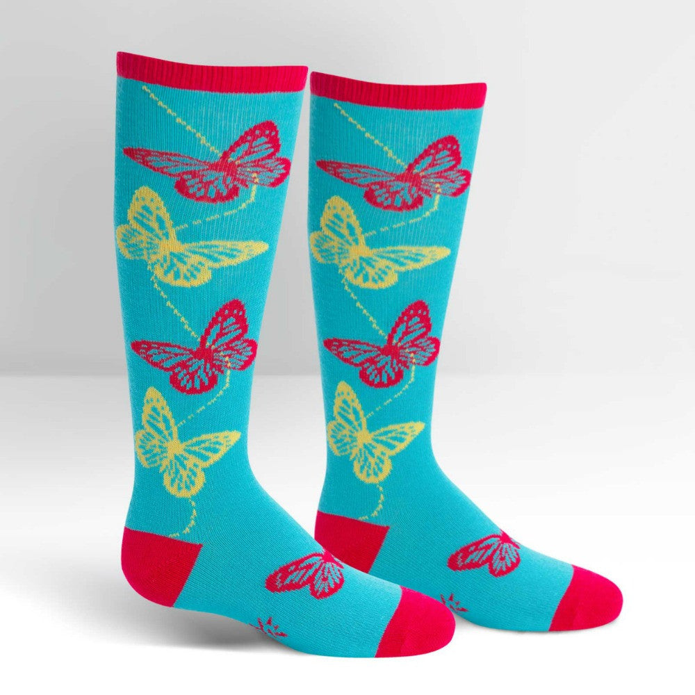 SOCK IT TO ME Knee High Junior Butterfly