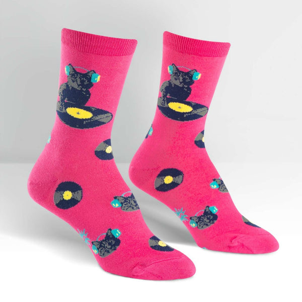 SOCK IT TO ME Crew Womens Cat Scratch