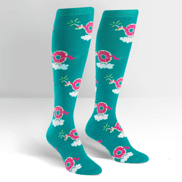 SOCK IT TO ME Knee High Womens Donuticorn
