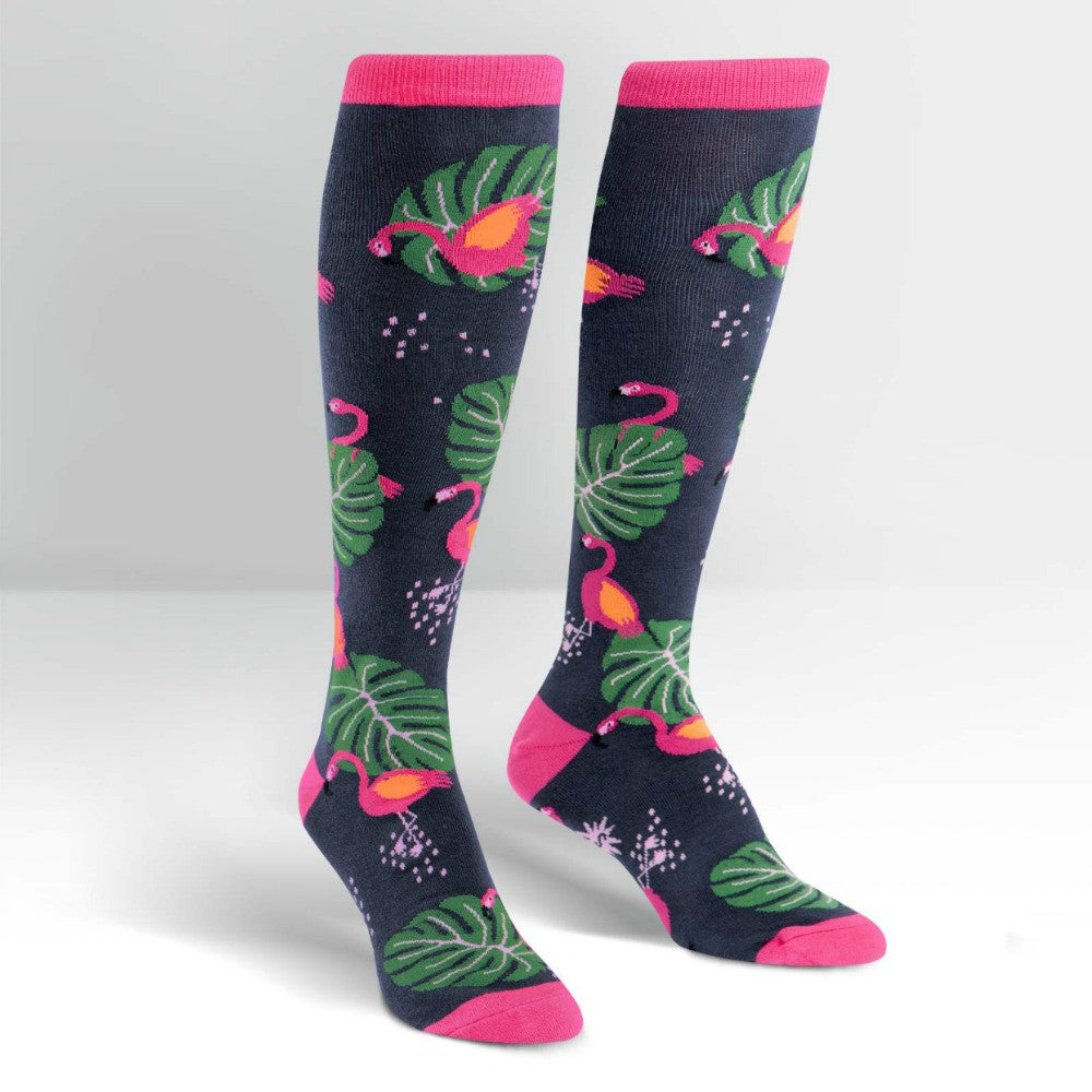 SOCK IT TO ME Knee High Womens Flamingo