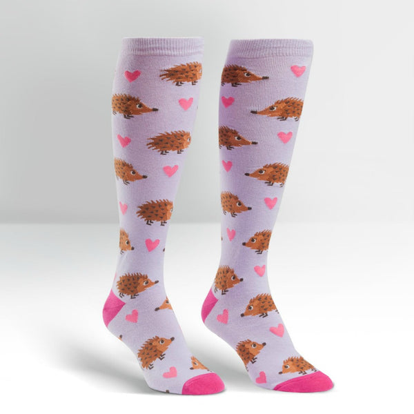 SOCK IT TO ME Knee High Womens Hedgehog Heaven