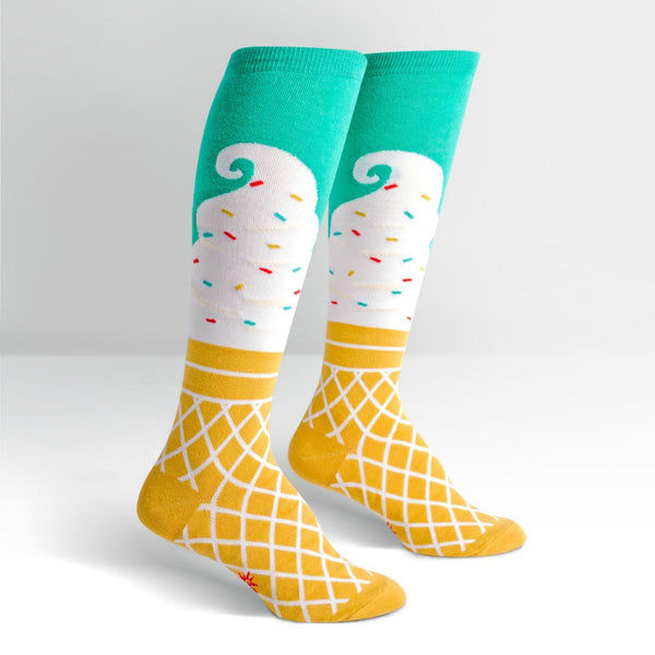 SOCK IT TO ME Knee High Womens Ice Cream Dream
