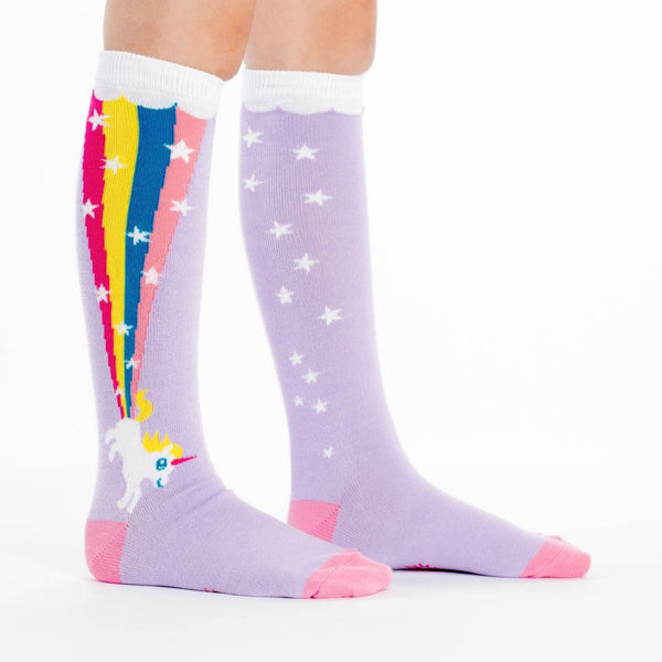 SOCK IT TO ME Knee High Junior Rainbow Blast
