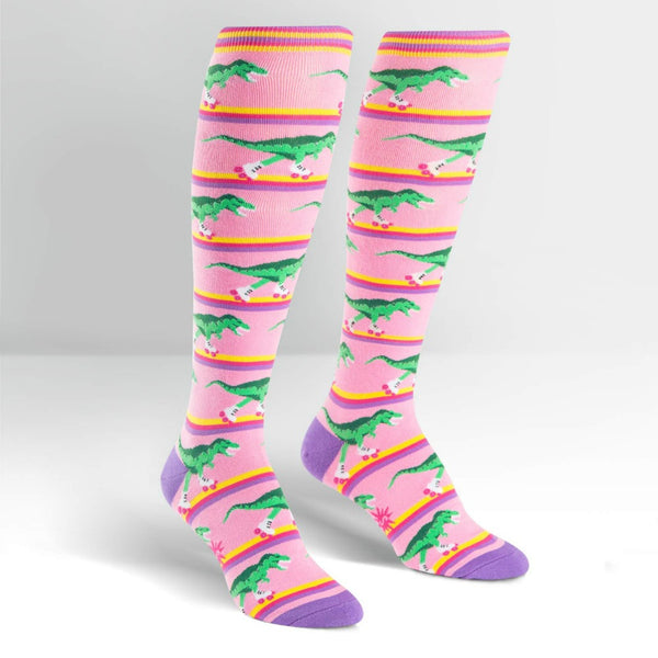 SOCK IT TO ME Knee High Womens Rawr-ler Rink