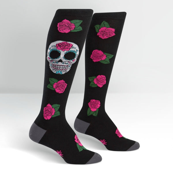 SOCK IT TO ME Knee High Womens Sugar Skull