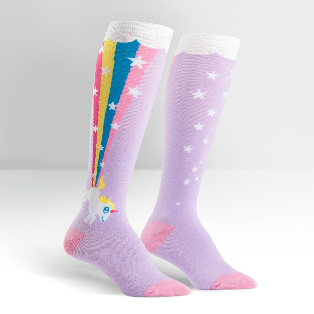 SOCK IT TO ME Knee High Womens Rainbow Blast