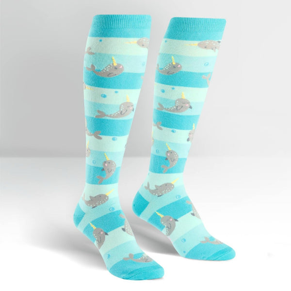 SOCK IT TO ME Knee High Womens Unicorn of the Sea