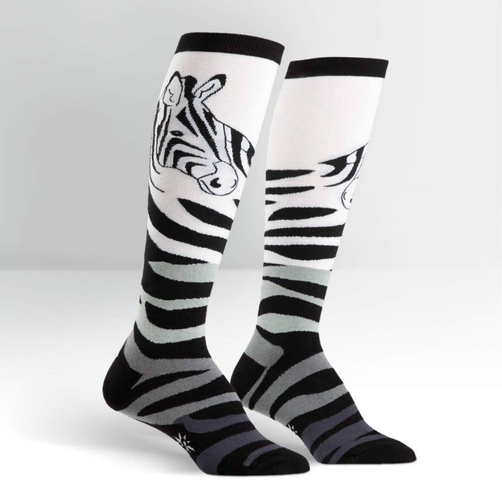 SOCK IT TO ME Knee High Womens Zebra