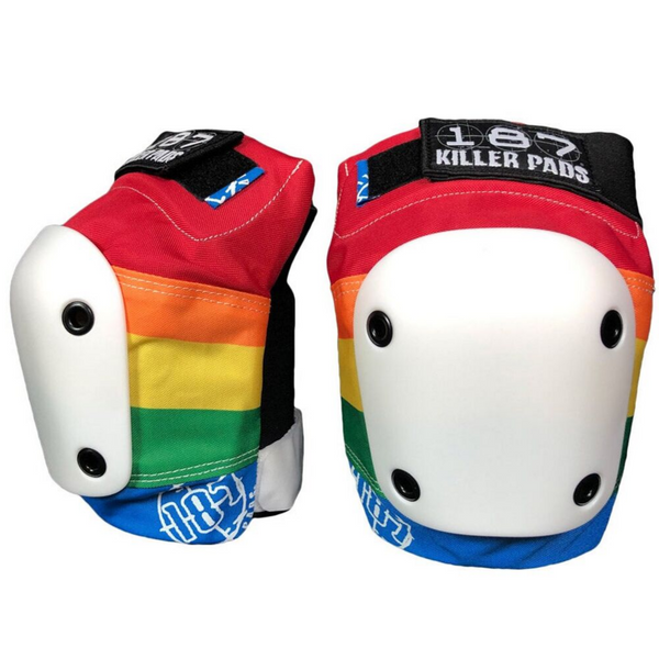 187-Killer-Pads-Slim-Knee-Pad-Guard-Rainbow