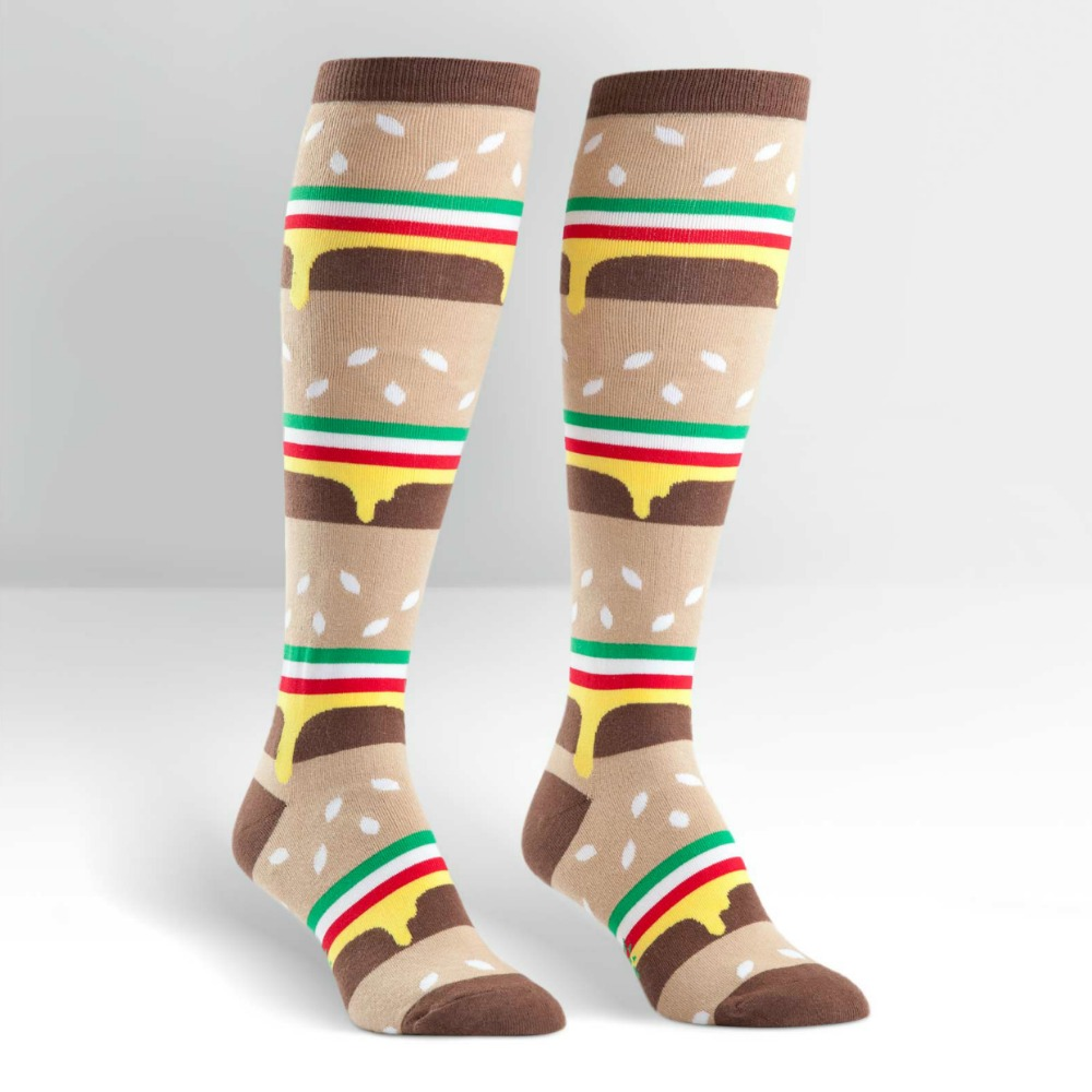 SOCK IT TO ME Knee High Womens Double Cheeseburger