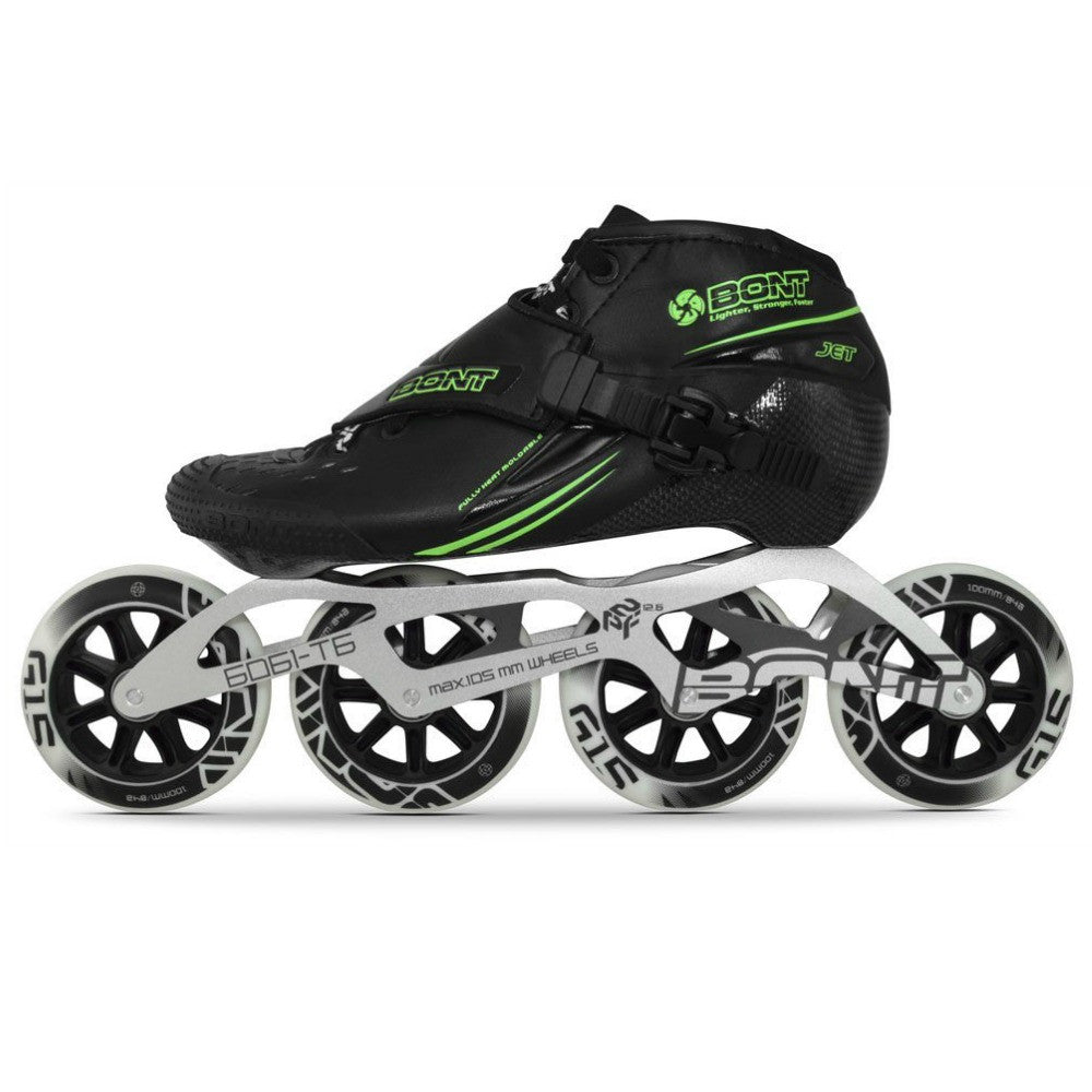 BONT-Jet-with-6061-2-Point-Frame-and-110mm-package- Black-with-Green