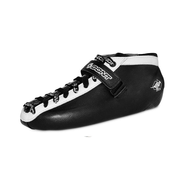 BONT Hybrid Carbon Black Quad Rollerskate Boot - Black with White Trim