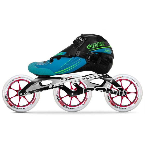 BONT Jet 6061 Hardcore 125mm Inline Speed Package - Aqua