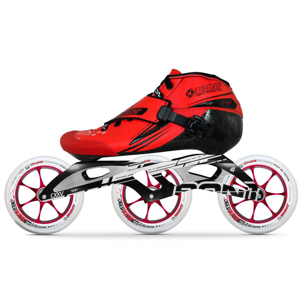 BONT Jet 6061 Hardcore 125mm Inline Speed Package - Red