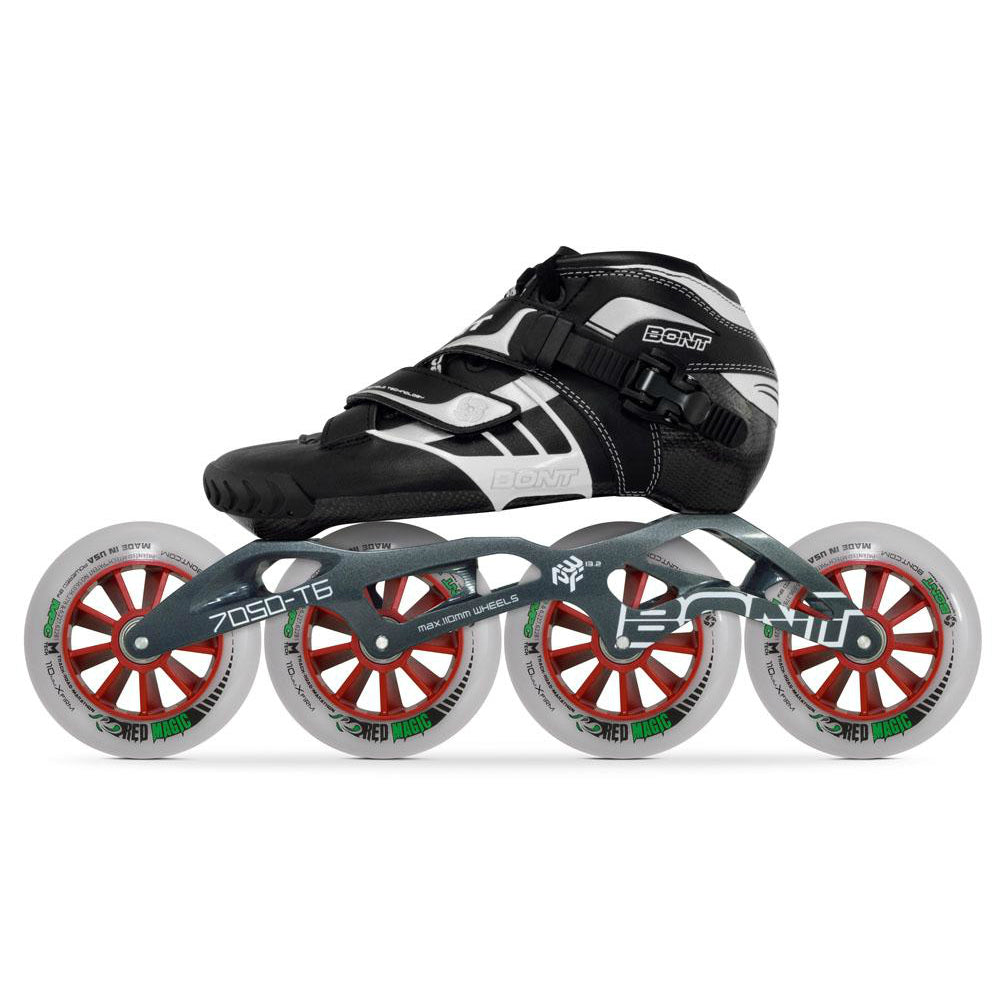 BONT Z Inline Skate Boot/3PF 7050 package, Black