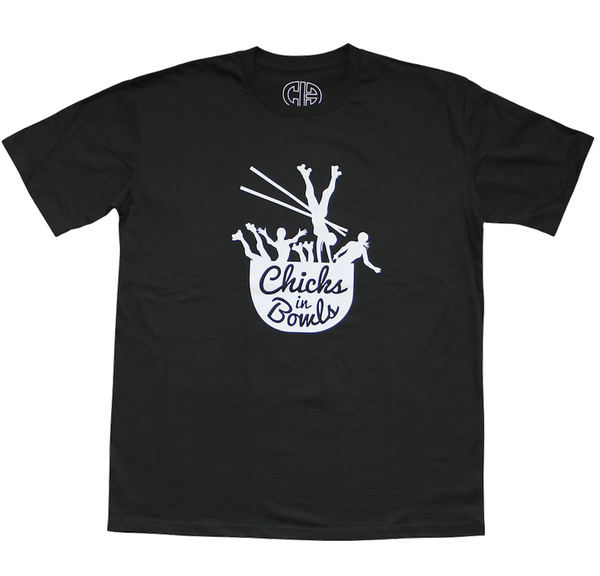 CHICKS IN BOWLS Classic Logo Unisex T-Shirt