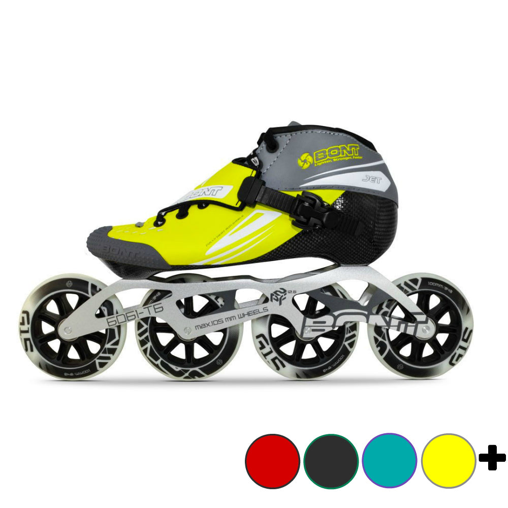BONT-Jet-with-6061-2-Point-Frame-and-110mm-package- Yellow-with-Grey