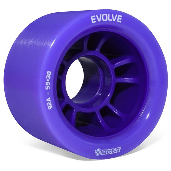 BONT-Evolve-Derby-Quad-Wheel-59mm-92a-Purple