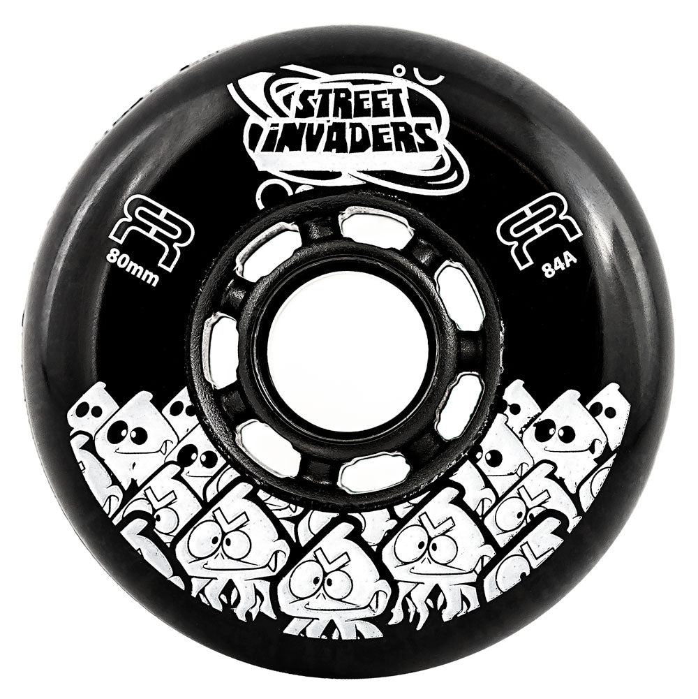 FR-Street-Invader-Inline-Skating-Wheel-80mm- Black