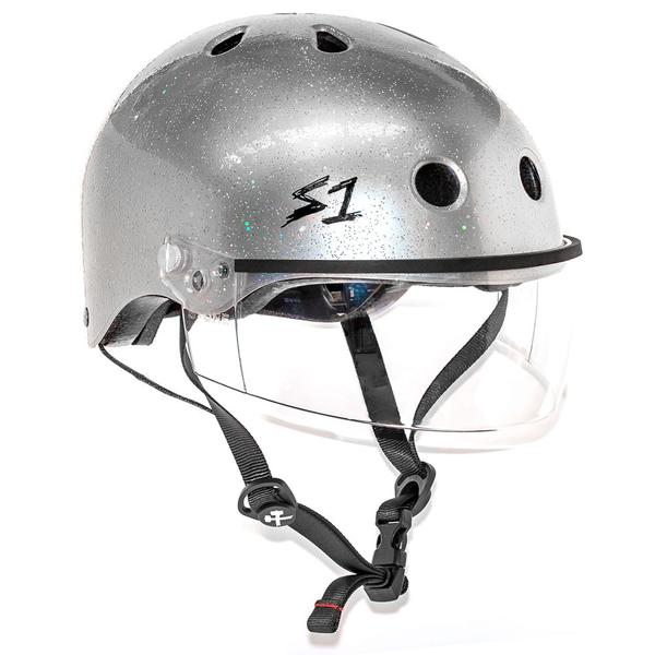 S-ONE Lifer Visor Helmet Glitter Silver