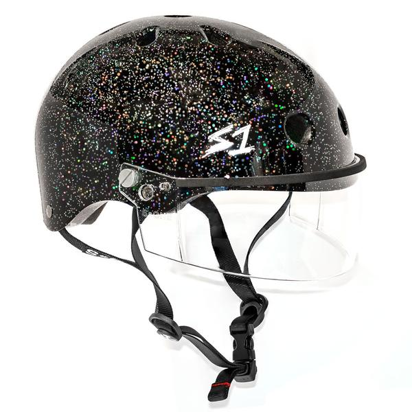 S-ONE Lifer Visor Helmet Glitter Black