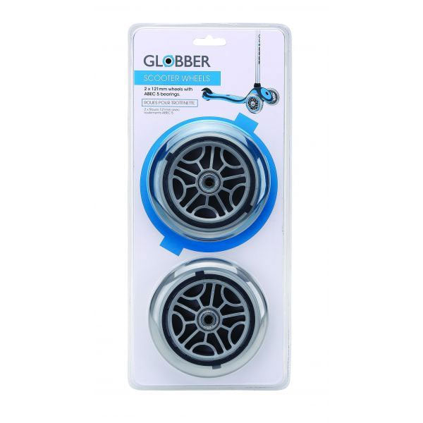 Globber-121mm-Replacemnet-Wheel-Grey-Hub