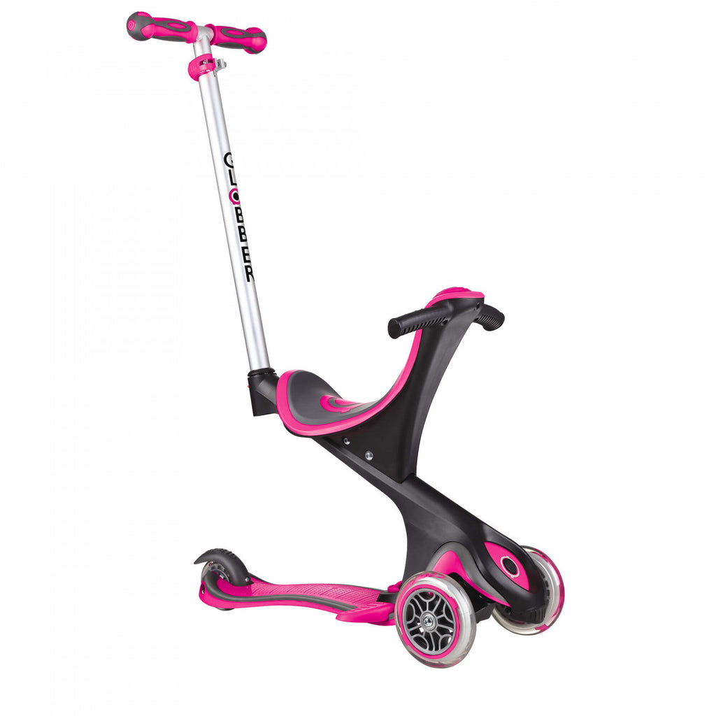 Globber-Evo-Comfort-Convertible-5in1-Scooter-Deep-Pink