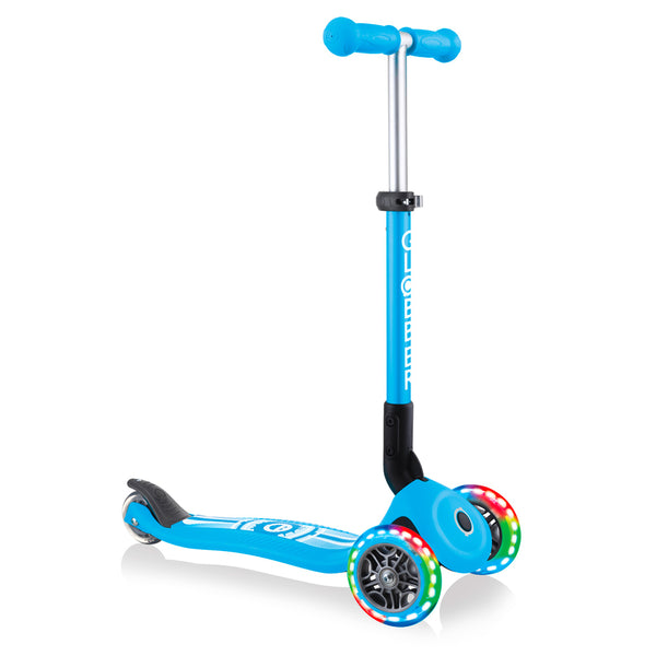Globber-Junior-Primo-Fantasy-Lights-Foldable-Scooter-Sky-Blue