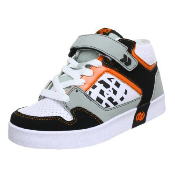 Heelys Stripes High Top Roller Shoe grey orange black and white