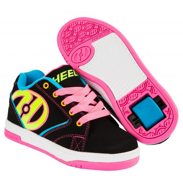 Heelys Propel 2.0 Black Multi coloured pink blue yellow roller shoe