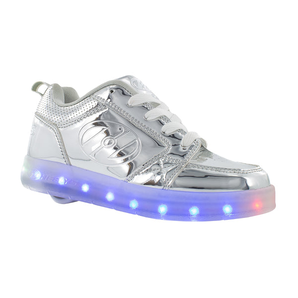 HEELYS Premium Light Up SILVER