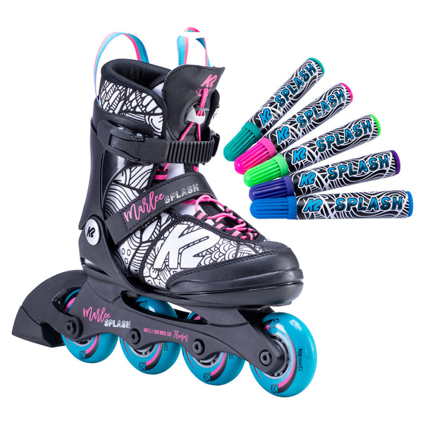 K2-Marlee-Splash-Adjustable-Inline-Skate-with-Markers