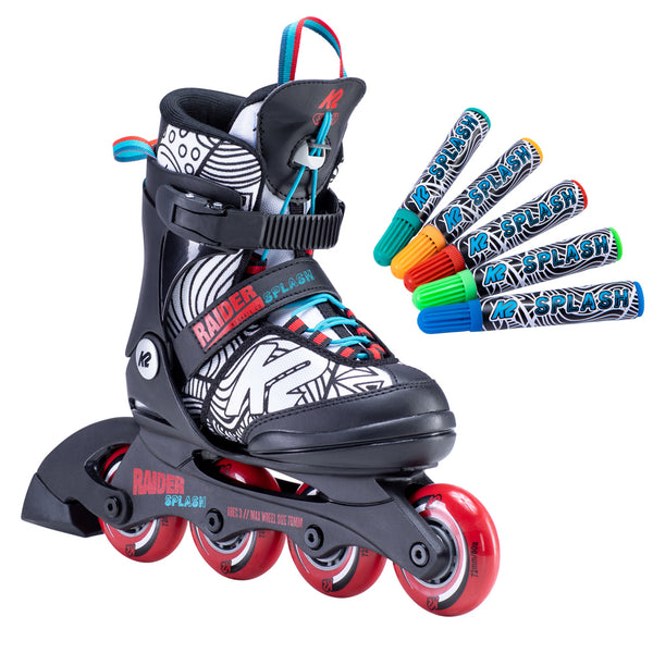 K2-Raider-Splash-Adjustable-Inline-Skate-with-Markers