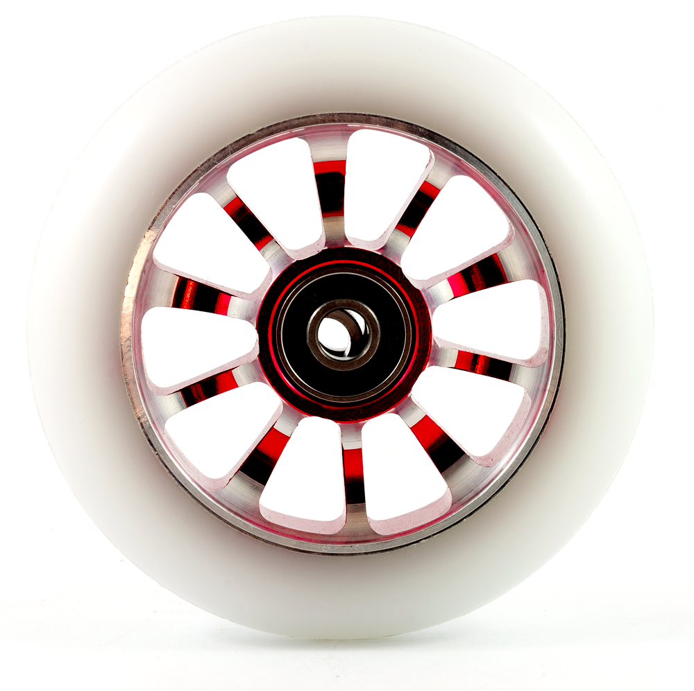 FOX Scooter Wheel White 100mm - Red